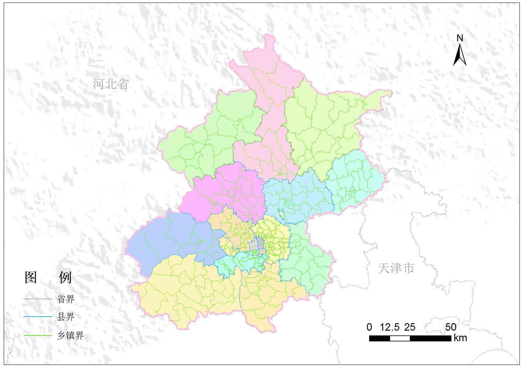 北京市乡镇行政区划-地图数据-地理国情监测云平台