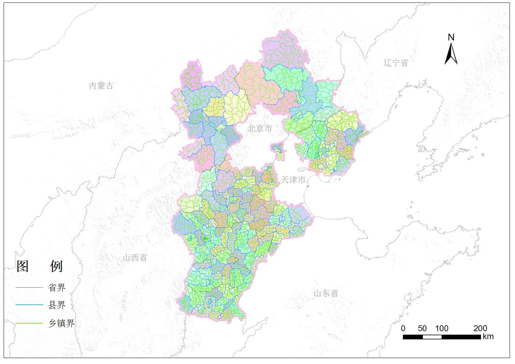 河北省乡镇行政区划-地图数据-地理国情监测云平台