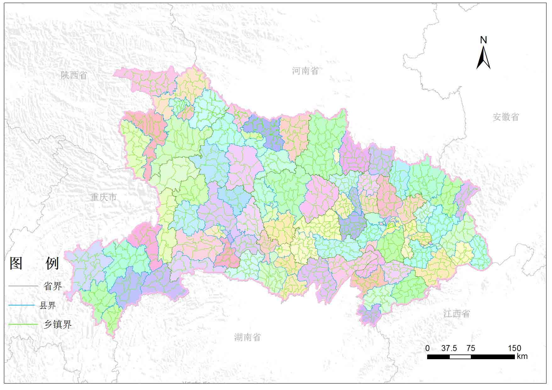 湖北省乡镇行政区划-地图数据-地理国情监测云平台
