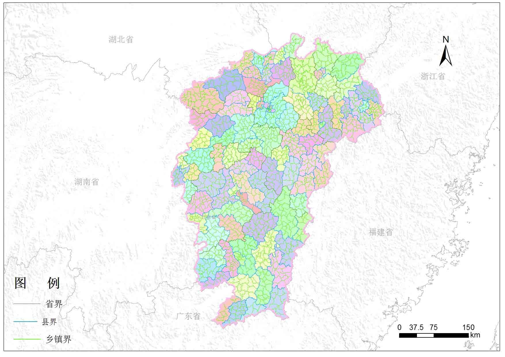 江西省乡镇行政区划-地图数据-地理国情监测云平台