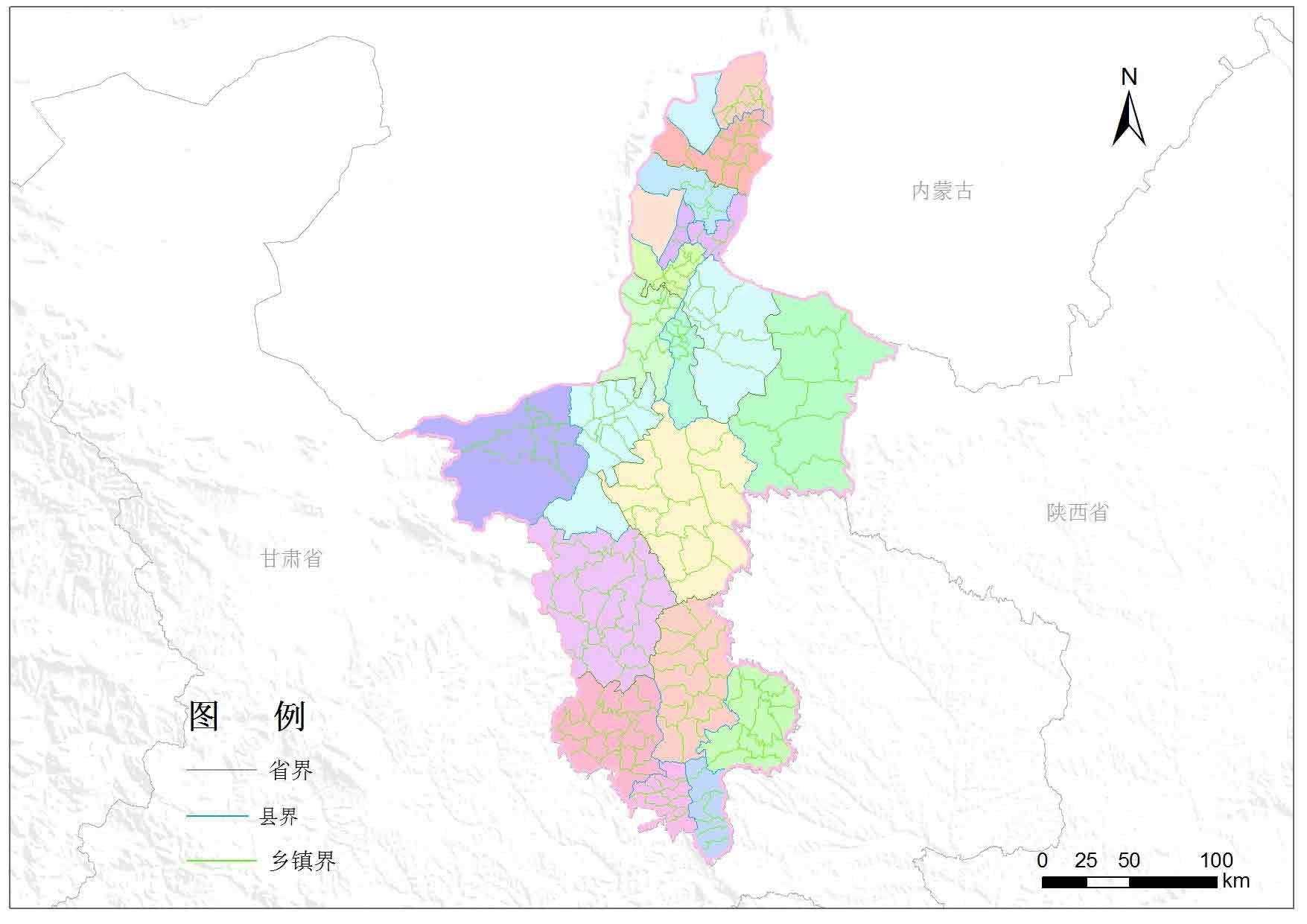 宁夏回族自治区乡镇行政区划-地图数据-地理国情监测