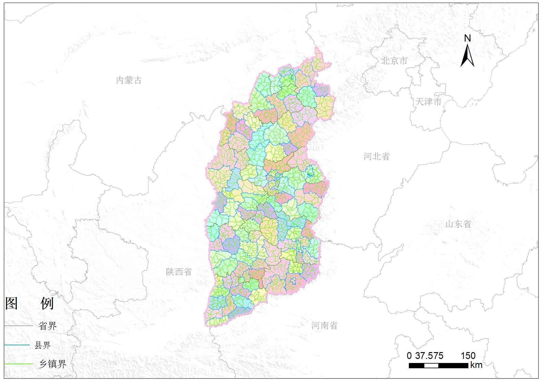 山西省乡镇行政区划-地图数据-地理国情监测云平台