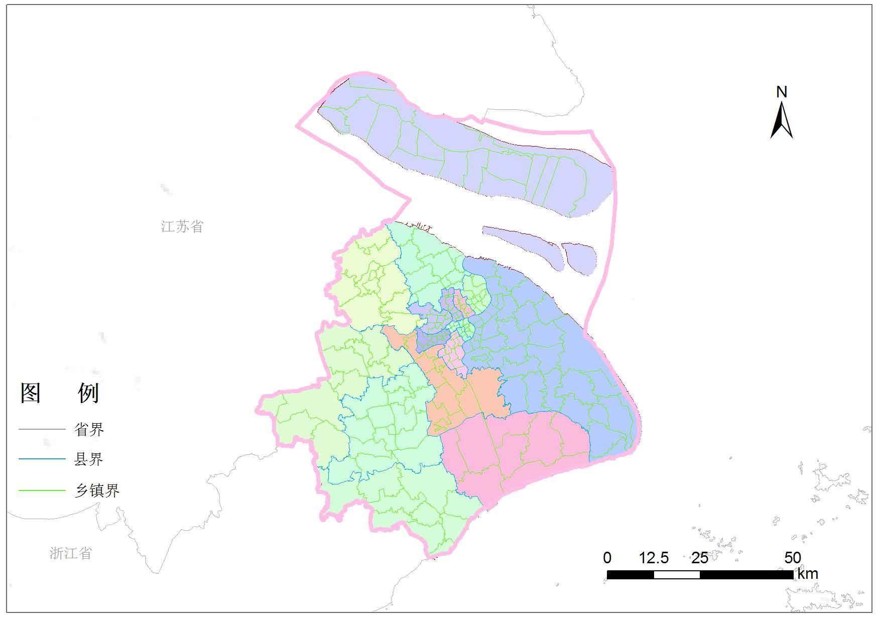 上海市乡镇行政区划-地图数据-地理国情监测云平台