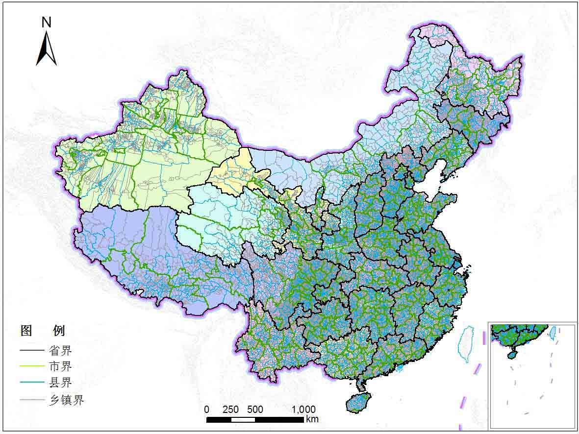 全国乡镇行政区划-地图数据-地理国情监测云平台