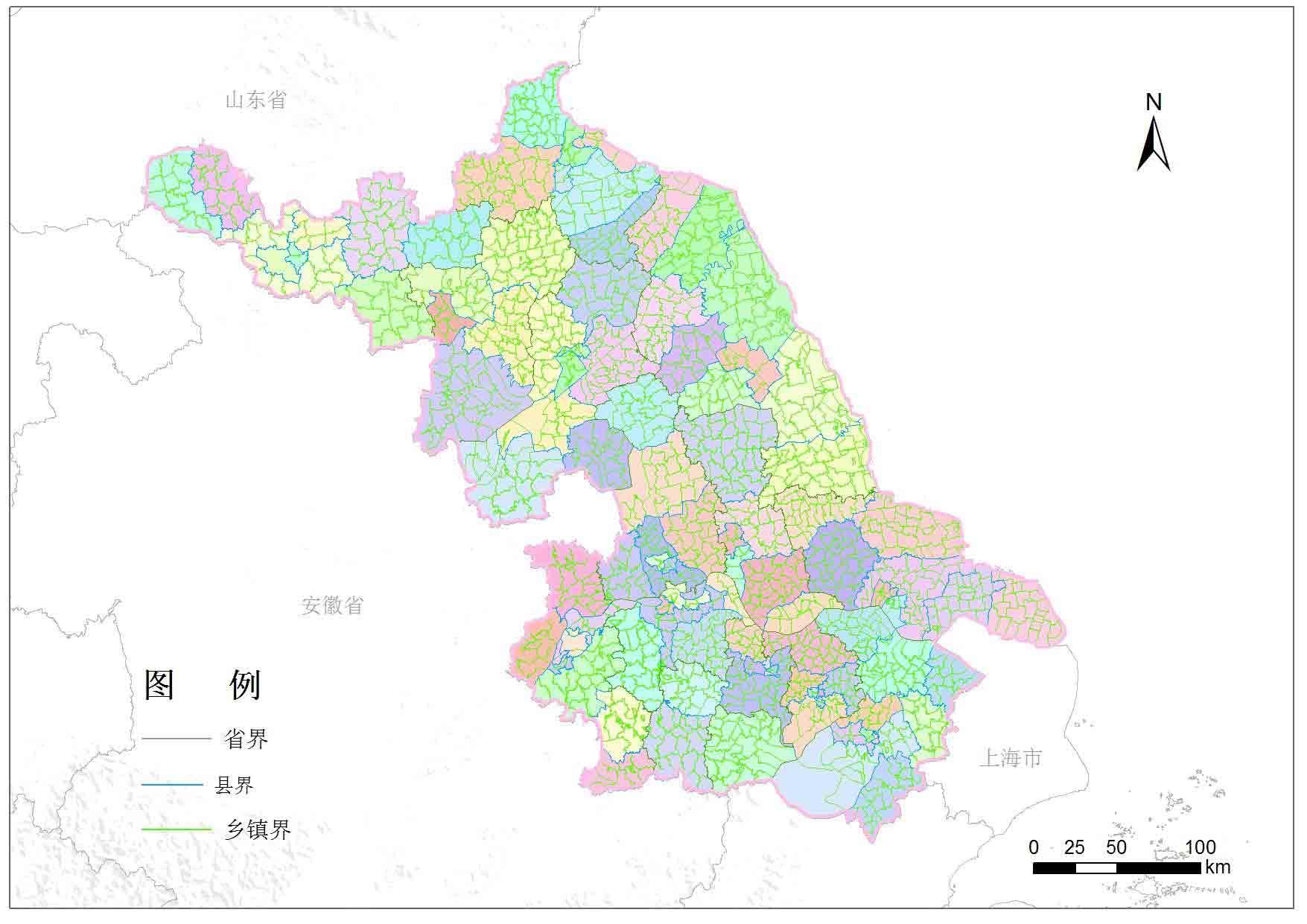 江苏省乡镇行政区划-地图数据-地理国情监测云平台