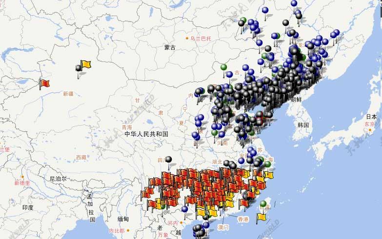 抗战日本占领中国地图