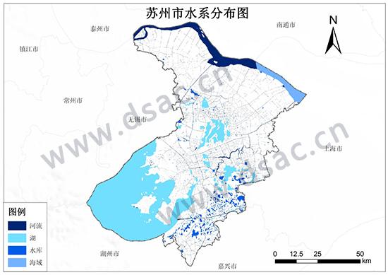南京,镇江,常州,无锡,苏州,上海6市电子地图水系图层数据