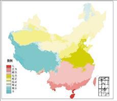 全国温度带分区信息产品